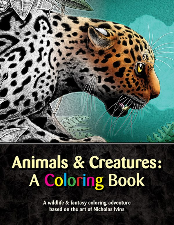 Animal coloring book for adults and kids