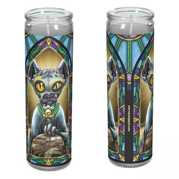 day of the dead cat candle