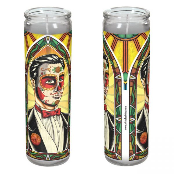 Day of the Dead groom candle
