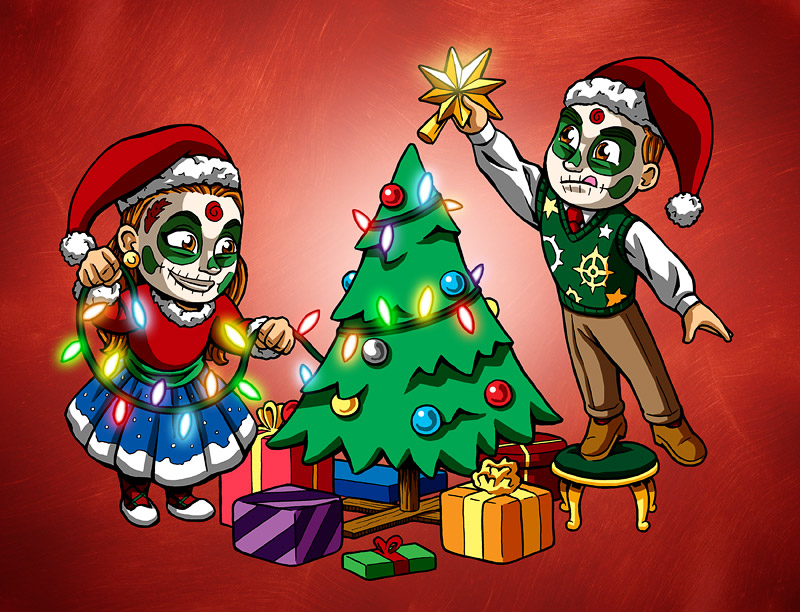 Da xmas greeting card nicholas ivins day of the dead christmas m4hsunfo