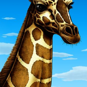 Giraffe art print