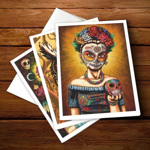 day of the dead greeting card pack