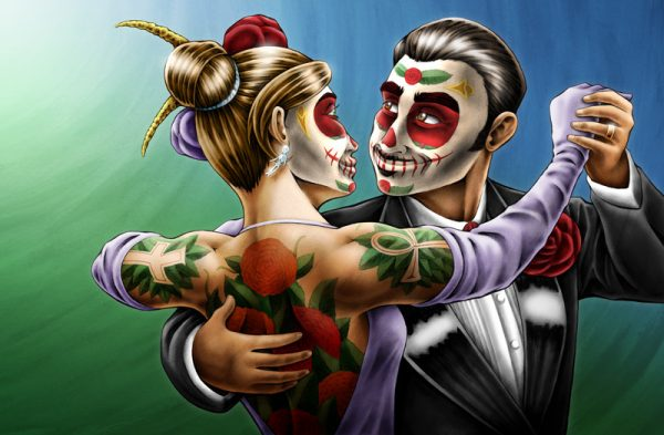 Marcos and Luna Day of the Dead art