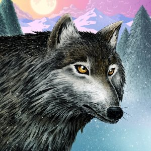 Wolf art print